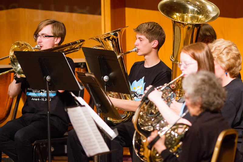 """UAF Summer Music Academy's Symphonic Band performs at the Davis Concert Hall in front of fellow classmates, parents, teachers, and community members.  <div class=""""ss-paypal-button"""">Filename: AAR-12-3439-84.jpg</div><div class=""""ss-paypal-button-end"""" style=""""""""></div>"""