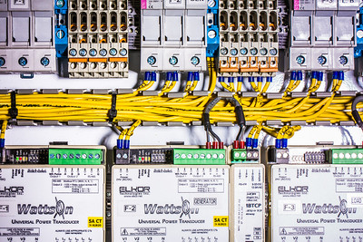 A test circuit board being utilized at the Alaska Center for Energy and Power.  Filename: AAR-13-3705-118.jpg