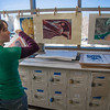 "Senior foreign languages major Lindsey Miller spent lots of time in the printmaking studio in the UAF Fine Arts Complex.  <div class=""ss-paypal-button"">Filename: AAR-12-3353-19.jpg</div><div class=""ss-paypal-button-end"" style=""""></div>"