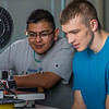 "Seth Carstens, right, and Arch Chauhan watch the progress on their project during an open work session in UAF's Community and Technical College's 3-D print lab in downtown Fairbanks.  <div class=""ss-paypal-button"">Filename: AAR-16-4857-050.jpg</div><div class=""ss-paypal-button-end""></div>"