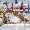 "Engineering students and volunteers from GHEMM Company raise the 2013 ice arch in Cornerstone Plaza on the Fairbanks campus. Students this year built the structure out of a mixture of ice and sawdust, which is many times stronger than concrete.  <div class=""ss-paypal-button"">Filename: AAR-13-3736-23.jpg</div><div class=""ss-paypal-button-end"" style=""""></div>"