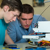 "Stephen Ramirez, left, and Daniel Dougherty watch the progress on their project during an open work session in UAF's Community and Technical College's 3-D print lab in downtown Fairbanks.  <div class=""ss-paypal-button"">Filename: AAR-16-4857-020.jpg</div><div class=""ss-paypal-button-end""></div>"
