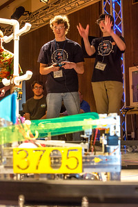 High school students from throughout Interior Alaska squared off in the Wood Center ballroom in February for an annual robotics competition.  Filename: AAR-13-3729-20.jpg