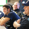"UAF student firefighters react to a humorous comment made during a debriefing in the University Fire Department's dining hall in the Whitaker Building on the Fairbanks campus.  <div class=""ss-paypal-button"">Filename: AAR-11-3223-24.jpg</div><div class=""ss-paypal-button-end"" style=""""></div>"