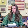 "Sarah Walker, a senior in UAF's rural development program, presents testimony before a committee of her peers during a mock legislative hearing as part of a weeklong seminar on understanding the legislative process in Juneau.  <div class=""ss-paypal-button"">Filename: AAR-14-4056-182.jpg</div><div class=""ss-paypal-button-end"" style=""""></div>"