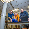 "Engineering majors Cody Klingman, left, and Logan Little work with Professor David Barnes on dust abatement studies in a Duckering building lab.  <div class=""ss-paypal-button"">Filename: AAR-13-3812-45.jpg</div><div class=""ss-paypal-button-end"" style=""""></div>"