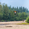 "An unmanned aerial vehicle (UAV) stands ready to collect video of important king salmon spawning habitat along a popular stretch of the upper Chena River about 40 miles northeast of Fairbanks. The project was a collaboration between the Alaska Center for Unmanned Aircraft Systems Integration (ACUASI) and the U.S. Fish and Wildlife Service.  <div class=""ss-paypal-button"">Filename: AAR-15-4593-269.jpg</div><div class=""ss-paypal-button-end""></div>"