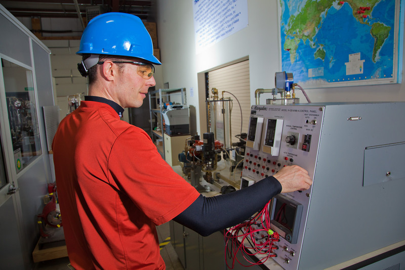 "Jay Ranson operates a model control panel at CTC's process technology facility on Van Horn Road.  <div class=""ss-paypal-button"">Filename: AAR-11-3230-131.jpg</div><div class=""ss-paypal-button-end"" style=""""></div>"