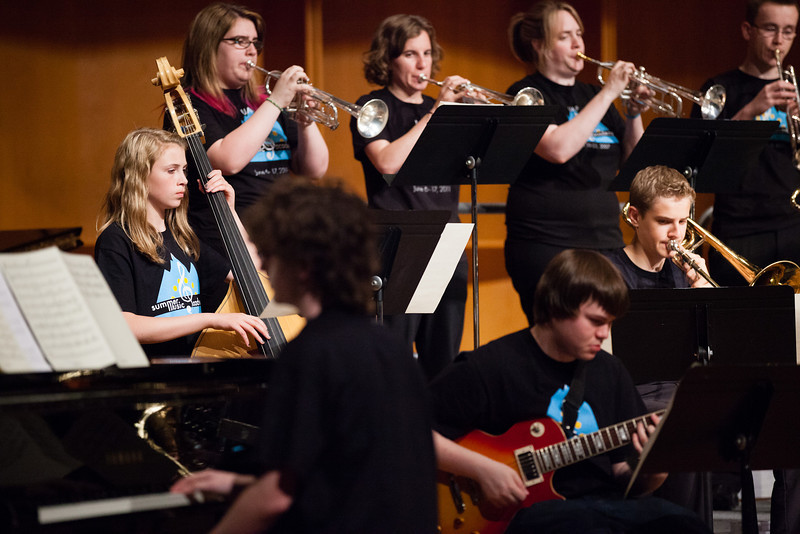 """The UAF Summer Music Academy Jazz Band performs at the Davis Concert Hall, Friday, June 15, 2012.  <div class=""""ss-paypal-button"""">Filename: AAR-12-3439-20.jpg</div><div class=""""ss-paypal-button-end"""" style=""""""""></div>"""