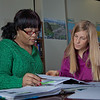 "Lauren Divine, right, a tutor with UAF's Student Support Services, works with Sante Lee-Sonkoh during a session in the SSS study lounge in the Gruening Building.  <div class=""ss-paypal-button"">Filename: AAR-12-3285-065.jpg</div><div class=""ss-paypal-button-end"" style=""""></div>"