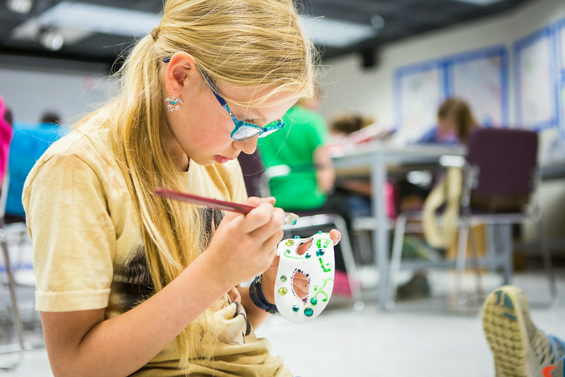 """Students from the Colors of Nature, a program sponsored by CNSM, create animal costumes during the two week program combining science and art.  <div class=""""ss-paypal-button"""">Filename: AAR-14-4252-25.jpg</div><div class=""""ss-paypal-button-end""""></div>"""