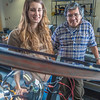 "Physics major Haley Nelson, left, and Stanley Edwin relax after class in a Reichardt Building lab.  <div class=""ss-paypal-button"">Filename: AAR-13-4009-105.jpg</div><div class=""ss-paypal-button-end"" style=""""></div>"