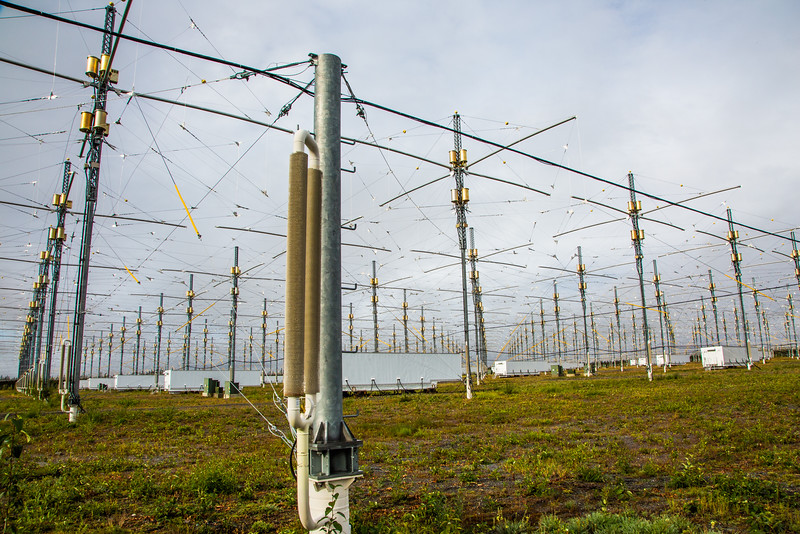 """A look at part of the antenae array at the High Frequency Active Auroral Research Program (HAARP) facility in Gakona. The facility was built and operated by the U.S. military before its official transfer to UAF's Geophysical Institute in August 2015.  <div class=""""ss-paypal-button"""">Filename: AAR-15-4600-010.jpg</div><div class=""""ss-paypal-button-end""""></div>"""