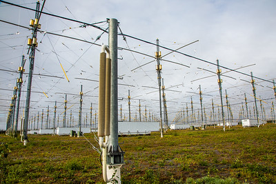 A look at part of the antenae array at the High Frequency Active Auroral Research Program (HAARP) facility in Gakona. The facility was built and operated by the U.S. military before its official transfer to UAF's Geophysical Institute in August 2015.  Filename: AAR-15-4600-010.jpg