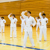 "Sporting the traditional-white gi, students of the Rural Alaska Honors Institute learn basic karate skills during their physical education class, June 18, 2012.  <div class=""ss-paypal-button"">Filename: AAR-12-3440-6.jpg</div><div class=""ss-paypal-button-end"" style=""""></div>"