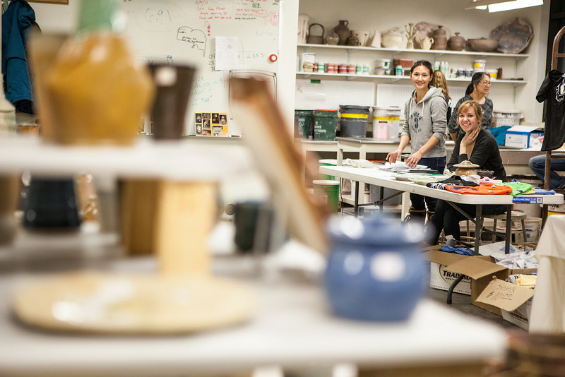 """Student potters' works of art were on sale for the public during the 2012 Student Artist Ceramics Sale on December.  <div class=""""ss-paypal-button"""">Filename: AAR-12-3683-16.jpg</div><div class=""""ss-paypal-button-end"""" style=""""""""></div>"""