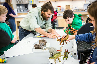 Youngsters learn all about dinosaurs in Summer Sessions' DinoCamp at the Murrie Building.  Filename: AAR-14-4242-9.jpg