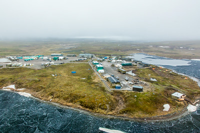 An aerial view of the Toolik Field Station, about 370 miles north of Fairbanks on Alaska's North Slope . The camp is operated by UAF's Institute of Arctic Biology and hosts scientists from around the world for a variety of arctic-based research efforts.  Filename: AAR-14-4216-243.jpg