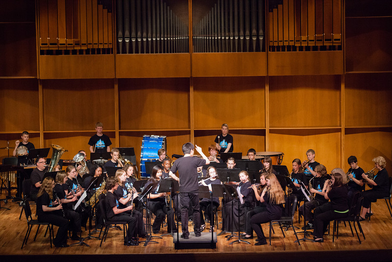 """UAF Summer Music Academy's Concert Band performs at the Davis Concert Hall in front of fellow classmates, parents, teachers, and community members.  <div class=""""ss-paypal-button"""">Filename: AAR-12-3439-70.jpg</div><div class=""""ss-paypal-button-end"""" style=""""""""></div>"""