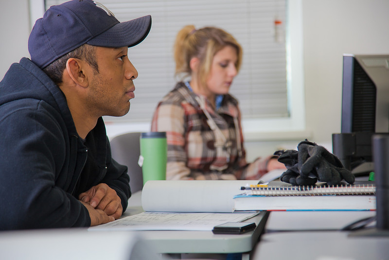 "Anthony Rogers listens to his instructor before starting another assignment in his computer aided design class at UAF's Community and Technical College.  <div class=""ss-paypal-button"">Filename: AAR-11-3226-024.jpg</div><div class=""ss-paypal-button-end"" style=""""></div>"