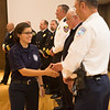 "Fabienne Munoz is congratulated by local fire chiefs after graduating from the 2016 Summer Fire Academy at the Wood Center ballroom.  <div class=""ss-paypal-button"">Filename: AAR-16-4960-181.jpg</div><div class=""ss-paypal-button-end""></div>"