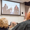 "Host Robert Hannon converses with distinguished alumnus, Vera Alexander, during Summer Sessions' Legacy Lectures at the Murie Building Auditorium.  <div class=""ss-paypal-button"">Filename: AAR-13-3852-26.jpg</div><div class=""ss-paypal-button-end"" style=""""></div>"