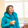 "During a brief visit to UAF's Toolik Field Station in Sept., 2013, U.S. Senator Lisa Murkowski enjoys a hot beverage in the dining hall.  <div class=""ss-paypal-button"">Filename: AAR-13-3929-411.jpg</div><div class=""ss-paypal-button-end""></div>"