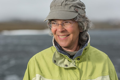 Jeanette Moore, a research professional with UAF's Institute of Arctic Biology, pictured at the Toolik Field Station on Alaska's north slope.  Filename: AAR-14-4216-070.jpg