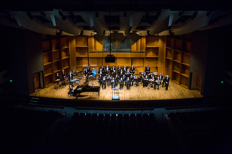 "The UAF Wind Symphony poses for a picture during their pre-concert warmup on Nov. 18, 2016.  <div class=""ss-paypal-button"">Filename: AAR-16-5070-6.jpg</div><div class=""ss-paypal-button-end""></div>"