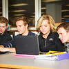 "Business students from left, Girard Gaul, Tobias Keizel, Dani Johnson, and Brian Laurencelle work on their marketting homework Friday, October 5, 2012 at the 23-hour study area at the Rasmussen Library.  <div class=""ss-paypal-button"">Filename: AAR-12-3577-2.jpg</div><div class=""ss-paypal-button-end"" style=""""></div>"