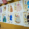 "Garments for the Theatre UAF production of Tartuffe are hand sewn from sketches drawn by Bethany Marx, assistant professor of costume design, and posted in the costume room of the Fine Arts complex.  <div class=""ss-paypal-button"">Filename: AAR-14-4095-7.jpg</div><div class=""ss-paypal-button-end"" style=""""></div>"