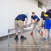 "The 2016 UAF Steel Bridge team practices in the hallway of the Duckering Building before competing in the national competition.  <div class=""ss-paypal-button"">Filename: AAR-16-4888-4.jpg</div><div class=""ss-paypal-button-end""></div>"