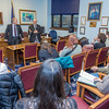 "Students from UAF's Alaska Native Studies and Rural Development program meet with Senate Majority Leader John Coghill during their weeklong seminar on Understanding the Legislative Process in the state capital of Juneau.  <div class=""ss-paypal-button"">Filename: AAR-14-4053-52.jpg</div><div class=""ss-paypal-button-end"" style=""""></div>"