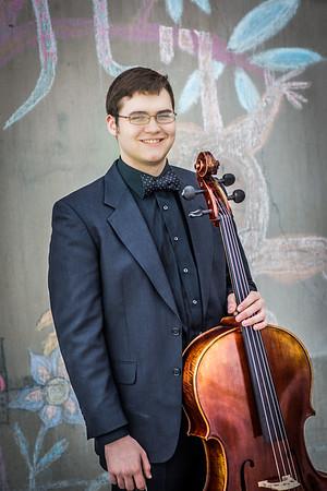 Cellist Sean Braendel is a music major at UAF.  Filename: AAR-15-4495-47.jpg