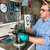 "Research professional Matt Bray studies pressurized petroleum samples in a Duckering Building rock mechanics lab.  <div class=""ss-paypal-button"">Filename: AAR-13-3919-29.jpg</div><div class=""ss-paypal-button-end"" style=""""></div>"