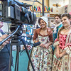 """Nicole Cowans, left, Marley Horner, center and Katrina Kuharich, cast members in Theatre UAF's production of """"Tartuffe"""" are interviewed by local media  after performing a live teaser in Wood Center a couple of days before opening night.  <div class=""""ss-paypal-button"""">Filename: AAR-14-4121-66.jpg</div><div class=""""ss-paypal-button-end"""" style=""""""""></div>"""