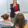 """Associate Professor Dani Sheppard gives instructions before handing out the final exam to students in her PSY 335 class, Brain and Behavior.  <div class=""""ss-paypal-button"""">Filename: AAR-14-4414-064.jpg</div><div class=""""ss-paypal-button-end""""></div>"""