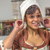 """Theatre major Nicole Cowans gets into her costume before she and other members of the cast of Theatre UAF's """"Tartuffe"""" performed a live teaser in Wood Center a couple of days before opening night.  <div class=""""ss-paypal-button"""">Filename: AAR-14-4121-16.jpg</div><div class=""""ss-paypal-button-end"""" style=""""""""></div>"""