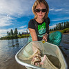 "Fisheries undergraduate student Patty McCall collect samples from the Chena River for a  research project on the life dynamics of Arctic brook lampreys.  <div class=""ss-paypal-button"">Filename: AAR-12-3468-058.jpg</div><div class=""ss-paypal-button-end"" style=""""></div>"