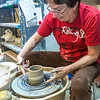 "Local instructor Reyne Athanas works on a personal project in the ceramics studio at UAF's Kuskokwim Campus in Bethel.  <div class=""ss-paypal-button"">Filename: AAR-16-4859-634.jpg</div><div class=""ss-paypal-button-end""></div>"