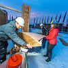 "Engineering students meet on a chilly January morning to work on the 2014 ice arch.  <div class=""ss-paypal-button"">Filename: AAR-14-4043-8.jpg</div><div class=""ss-paypal-button-end""></div>"