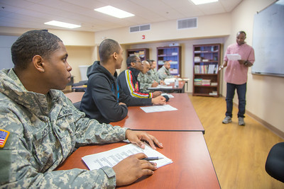 Soldiers stationed at Fort Wainwright have access to college classes through the Education Center on base.  Filename: AAR-14-4135-67.jpg