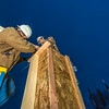 """Engineering students meet on a chilly January morning to work on the 2014 ice arch.  <div class=""""ss-paypal-button"""">Filename: AAR-14-4043-35.jpg</div><div class=""""ss-paypal-button-end""""></div>"""