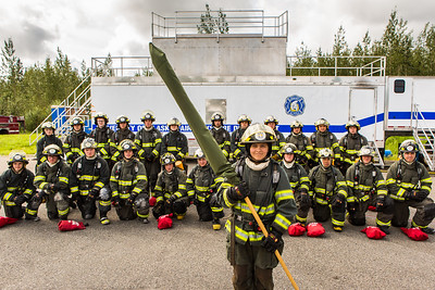 The CTC Summer Fire Academy is an intensive month-long training where students participate in classroom and hands-on learning to prepare them for the International Fire Service Accreditation Congress Firefighter I certificate.  Filename: AAR-16-4937-163.jpg