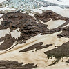 "A helicopter provides access for a team of UAF researchers gathering data from the surface of the Jarvis Glacier in the eastern Alaska Range.  <div class=""ss-paypal-button"">Filename: AAR-14-4256-241.jpg</div><div class=""ss-paypal-button-end""></div>"