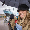 "Michelle Renfrew arrives at the shipyard in a driving rain to witness the launch of the R/V Sikuliaq at Marinette Marine Corp. in Marinette, Wisc.  <div class=""ss-paypal-button"">Filename: AAR-12-3594-001.jpg</div><div class=""ss-paypal-button-end"" style=""""></div>"