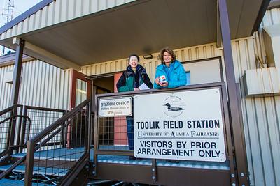During a brief visit to UAF's Toolik Field Station in Sept., 2013, U.S. Senator Lisa Murkowski, right, poses with Toolik associate science director Donie Bret-Harte.  Filename: AAR-13-3929-416.jpg