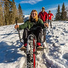 "Mechanical engineering major Daniel Sandstrom operates a fat tire ski bike he and partners Neil Gotschall, left, and Eric Bookless designed and built for paraplegic users as their spring 2016 senior design project. The bike is powered by pushing and pulling on the handles.  <div class=""ss-paypal-button"">Filename: AAR-16-4856-63.jpg</div><div class=""ss-paypal-button-end""></div>"