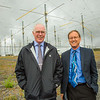 "Larry Hinzman, left, interim vice chancellor for research, and Geophysical Institute Director Bob McCoy, pose among the antenae at the High Frequency Active Auroral Research Program (HAARP) facility in Gakona before its official transfer of ownership from the U.S. military to the G.I.  <div class=""ss-paypal-button"">Filename: AAR-15-4600-190.jpg</div><div class=""ss-paypal-button-end""></div>"