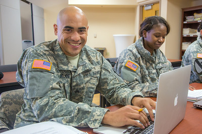 Soldiers stationed at Fort Wainwright have access to college classes through the Education Center on base.  Filename: AAR-14-4135-93.jpg